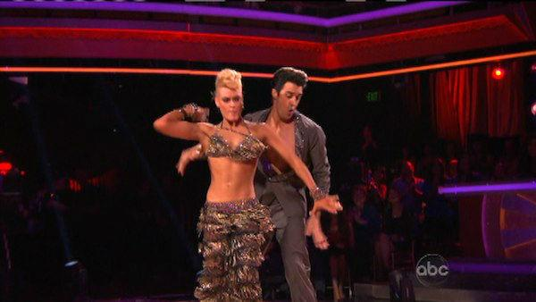 Gilles Marini and Peta Murgatroyd appear in a still from 'Dancing With The Stars: All-Stars' on October 1, 2012.