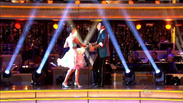 Melissa Rycroft and Tony Dovolani appear in a still from 'Dancing With The Stars: All-Stars' on October 1, 2012.