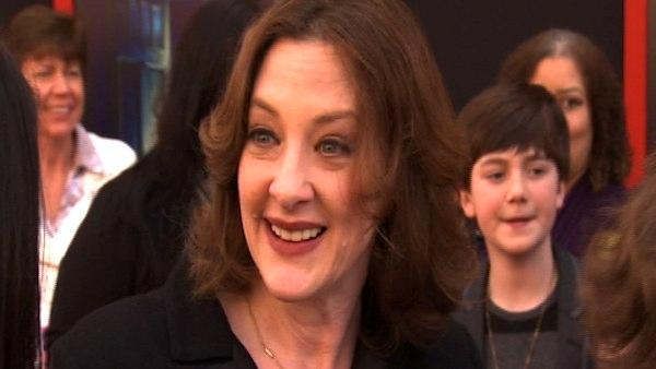 Joan Cusack  talks to OnTheRedCarpet.com at the Hollywood premiere of 'Mars Needs Moms.'