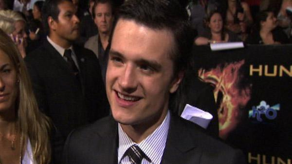 Josh Hutcherson talks to OnTheRedCarpet.com at the Los Angeles premiere of 'The Hunger Games' on March 12, 2012.