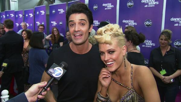 Gilles Marini and Peta Murgatroyd talk to OTRC.com after the October 1, 2012 episode of 'Dancing With The Stars.'