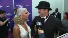 Joey Fatone and Kym Johnson talk to OTRC.com after the October 1, 2012 episode of Dancing With The Stars. - Provided courtesy of OTRC
