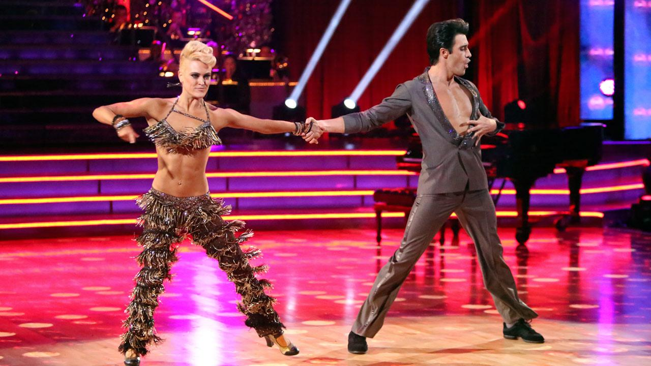 French actor Gilles Marini and his partner Peta Murgatroyd received 25.5 out of 30 points from the judges for their Jive on week two of Dancing With The Stars: All-Stars, which aired on Oct. 1, 2012.