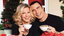 John Travolta and Olivia Newton-John appear on the cover of their holiday album This Christmas in 2012. - Provided courtesy of UME Music