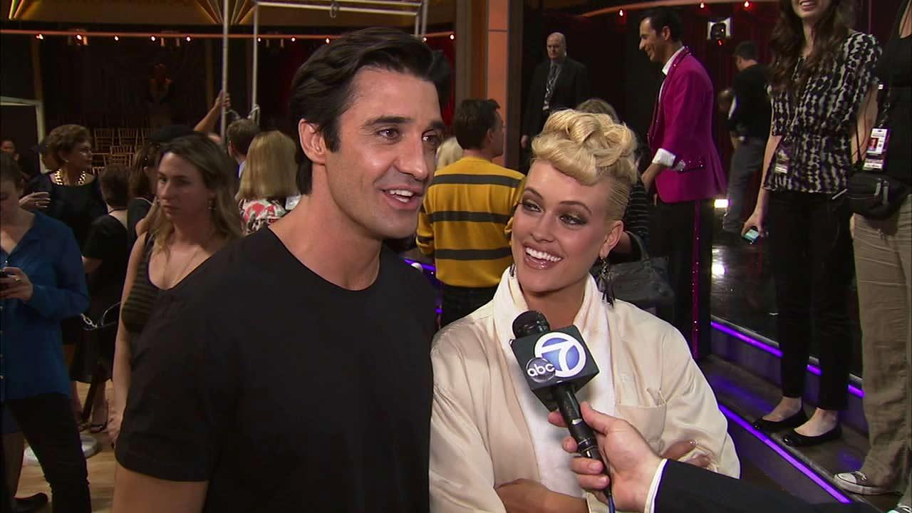 Gilles Marini and Peta Murgatroyd talk to OTRC.com after the Oct. 2, 2012 episode of Dancing With The Stars.