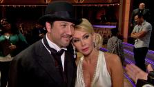 Joey Fatone and Kym Johnson talk to OTRC.com after the Oct. 2, 2012 episode of Dancing With The Stars. - Provided courtesy of ABC