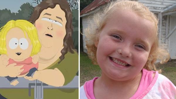 Alana (Honey Boo Boo) Shannon appears in an undated promotional photo for the first season of Here Comes Honey Boo Boo in 2012. / Alana (Honey Boo Boo) Shannon appears in an image from South Parks episode A Hog with Pizzazz. - Provided courtesy of Comedy Central / TLC