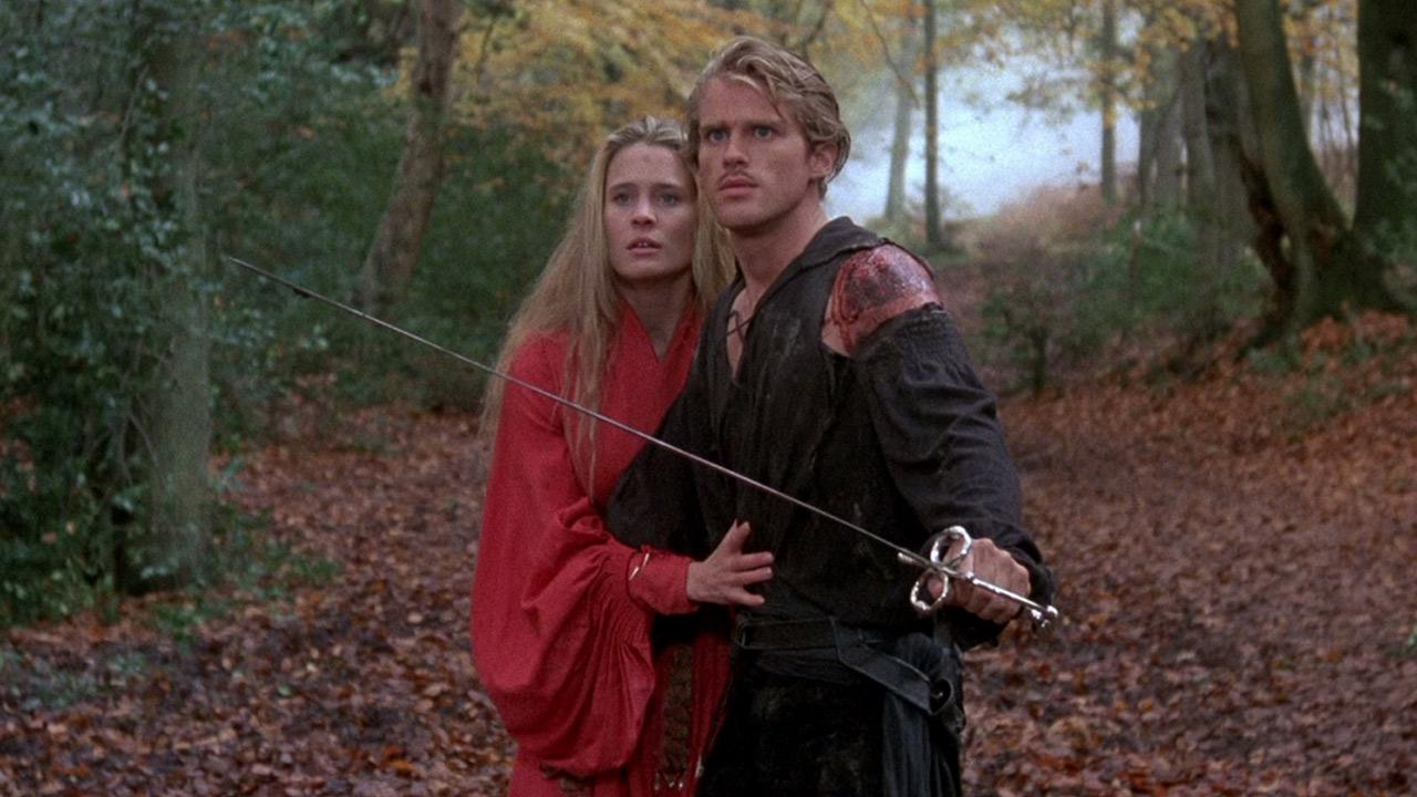 Cary Elwes and Robin Wright appear in a scene from The Princess Bride.
