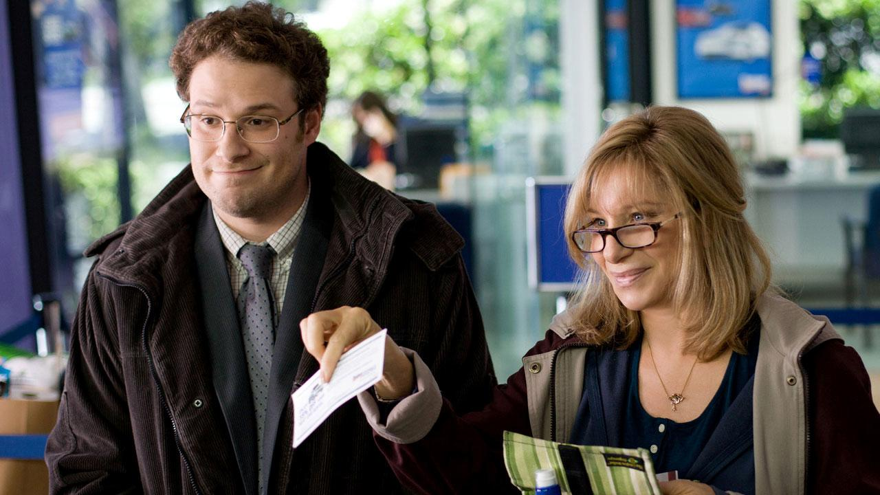 Seth Rogen and Barbra Streisand appear in a scene from the film The Guilt Trip in 2012.