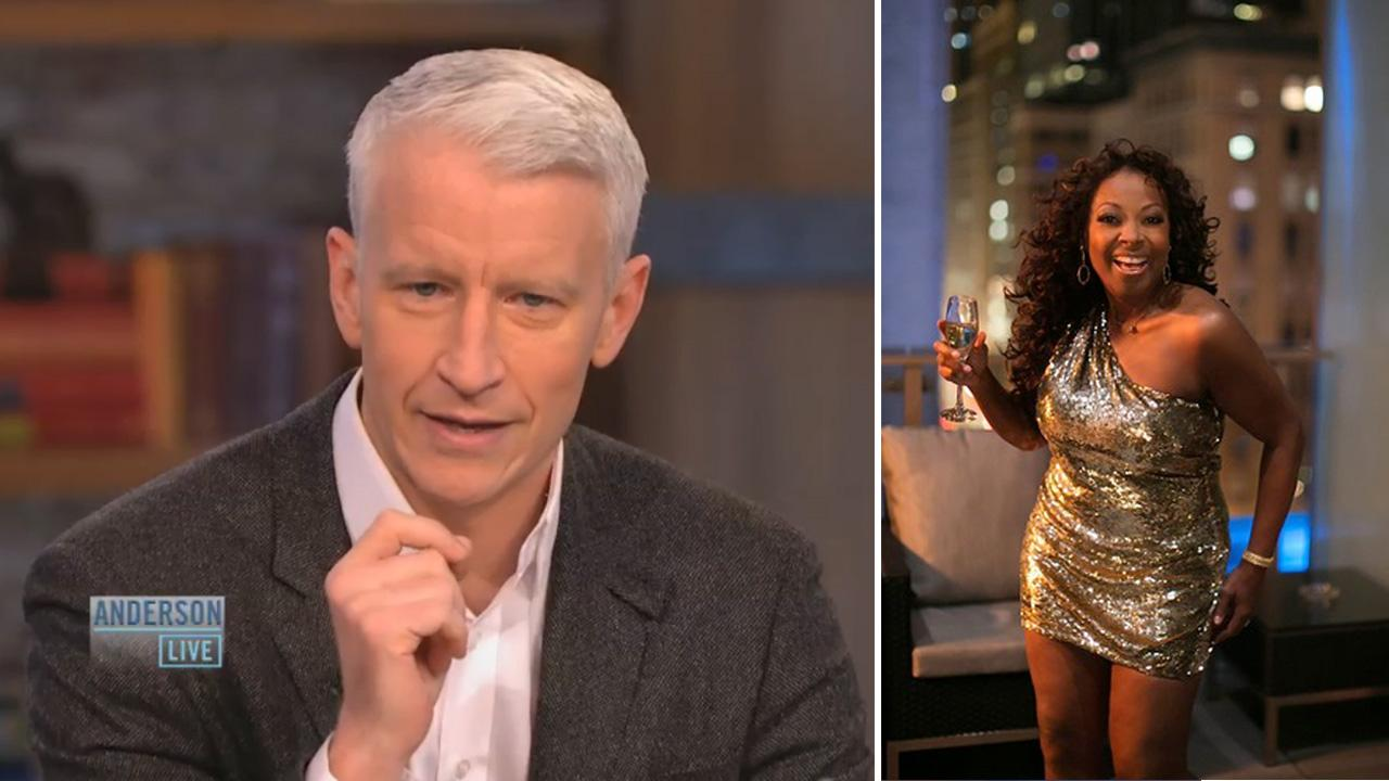 Anderson Cooper appears in an October 4 episode of Anderson Live. / Star Jones appears in an undated photo from her official Twitter page.
