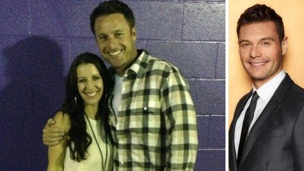 Chris Harrison and Pattie Mallette appear in a photo posted on her official Twitter page on October 2, 2012. / Ryan Seacrest in an undated still from Foxs American Idol. - Provided courtesy of Twitter.com/pattiemallette / FOX