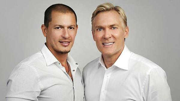 Sam Champion and his fiance Rubem Robierb appear in an undated publicity photo from ABC. - Provided courtesy of ABC