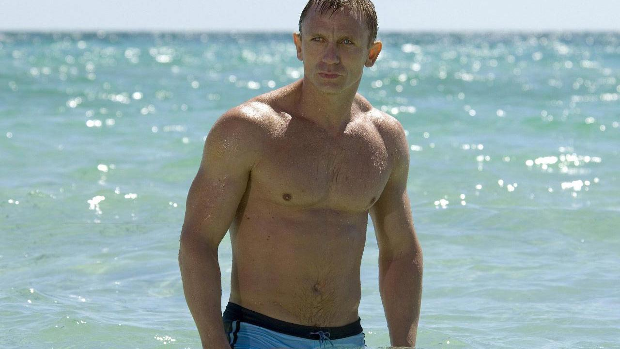 Daniel Craig appears on in a still from the 2006 film, Casino Royale.