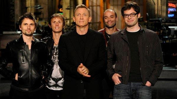 Daniel Craig and Muse appear in a promotional photo for Saturday Night Live in October 2012. - Provided courtesy of NBC