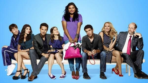 Mindy Kaling and the rest of the cast of The Mindy Project appear in a promotional photo for the 2012 series. - Provided courtesy of FOX