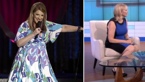 Lisa Lampanelli appears in a still from her 2009 HBO comedy special, 'Lisa Lampanelli: Long Live the Queen.' / Lisa Lampanelli appears in a still from her appearance on 'Dr. Oz.' on October 2, 2012.
