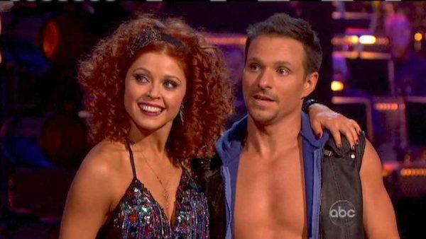 Former member of the boy band 98 Degrees, Drew Lachey and his partner Anna Trebunskaya received 24 out of 30 points from the judges for their Cha Cha Cha on 'Dancing With The Stars: All-Stars,' which aired on October 8, 2012.