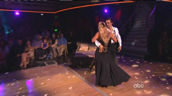 French actor Gilles Marini and his partner Peta Murgatroyd received 25.5 out of 30 points from the judges for their Tango on 'Dancing With The Stars: All-Stars,' which aired on October 8, 2012.