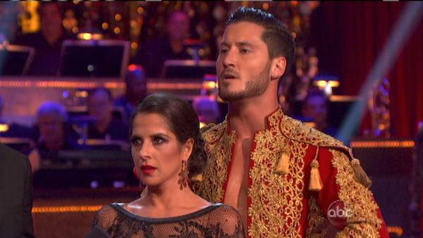 'General Hospital' actress Kelly Monaco and her partner Valentin Chmerkovskiy received 27 out of 30 points from the judges for their Paso Doble on 'Dancing With The Stars: All-Stars,' which aired on October 8, 2012.