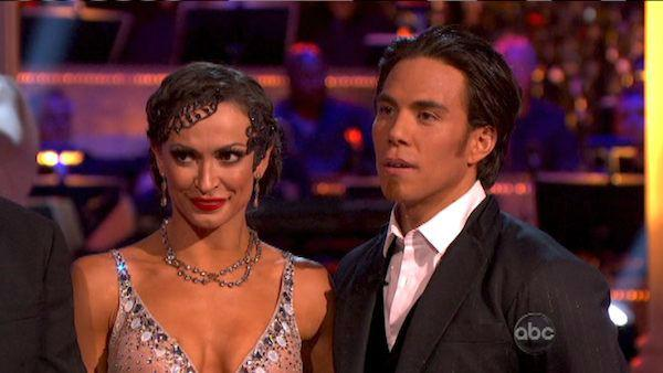 Olympic speed skater Apolo Anton Ohno and his partner Karina Smirnoff received 25.5 out of 30 points from the judges for their Foxtrot on 'Dancing With The Stars: All-Stars,' which aired on October 8, 2012.