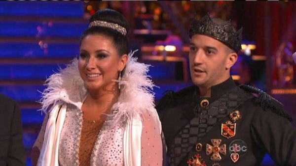 Reality star Bristol Palin and her partner Mark Ballas received 22.5 out of 30 points from the judges for their Paso Doble on 'Dancing With The Stars: All-Stars,' which aired on October 8, 2012.