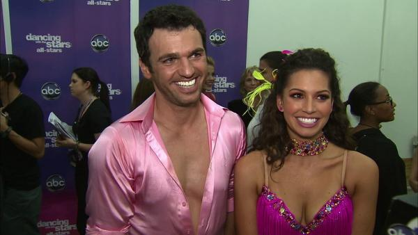 Melissa Rycroft and Tony Dovolani talk to OTRC.com after the October 8, 2012 episode of Dancing With The Stars. - Provided courtesy of OTRC