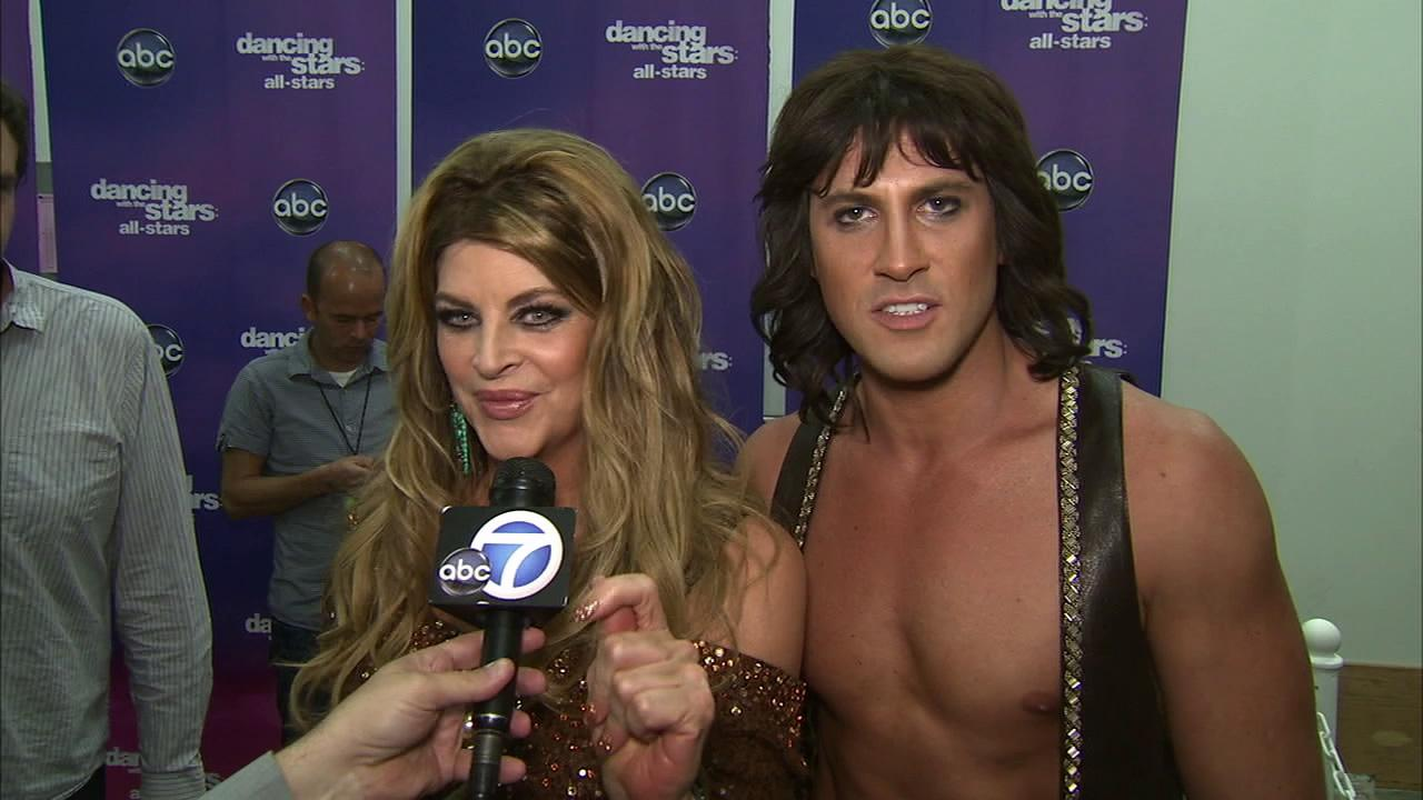 Kirstie Alley and Maksim Chmerkovskiy talk to OTRC.com after the October 8, 2012 episode of Dancing With The Stars.
