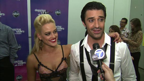 Gilles Marini and Peta Murgatroyd talk to OTRC.com after the October 8, 2012 episode of 'Dancing With The Stars.'