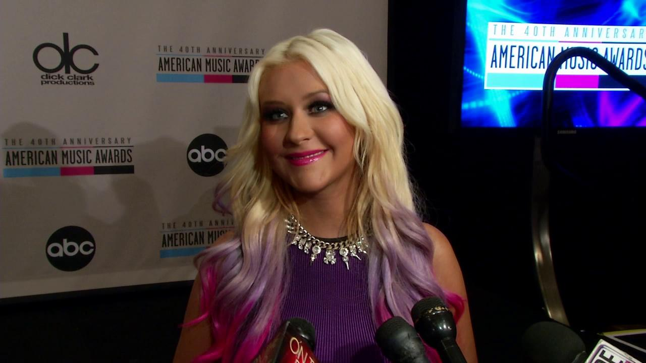Christina Aguilera talks to OTRC.com in Los Angeles on Oct. 9, 2012, the day she announced the nominees of the 2012 American Music Awards.