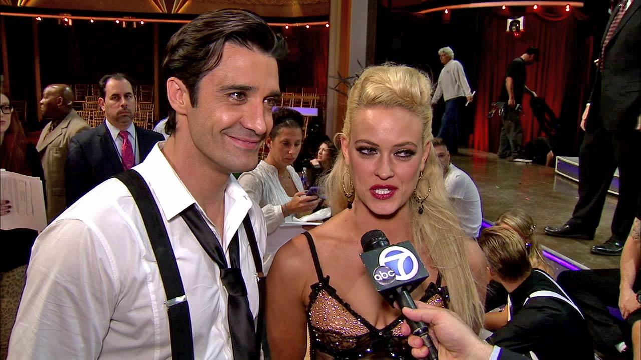 Gilles Marini and Peta Murgatroyd talk to OTRC.com after the Oct. 9, 2012 episode of Dancing With The Stars.