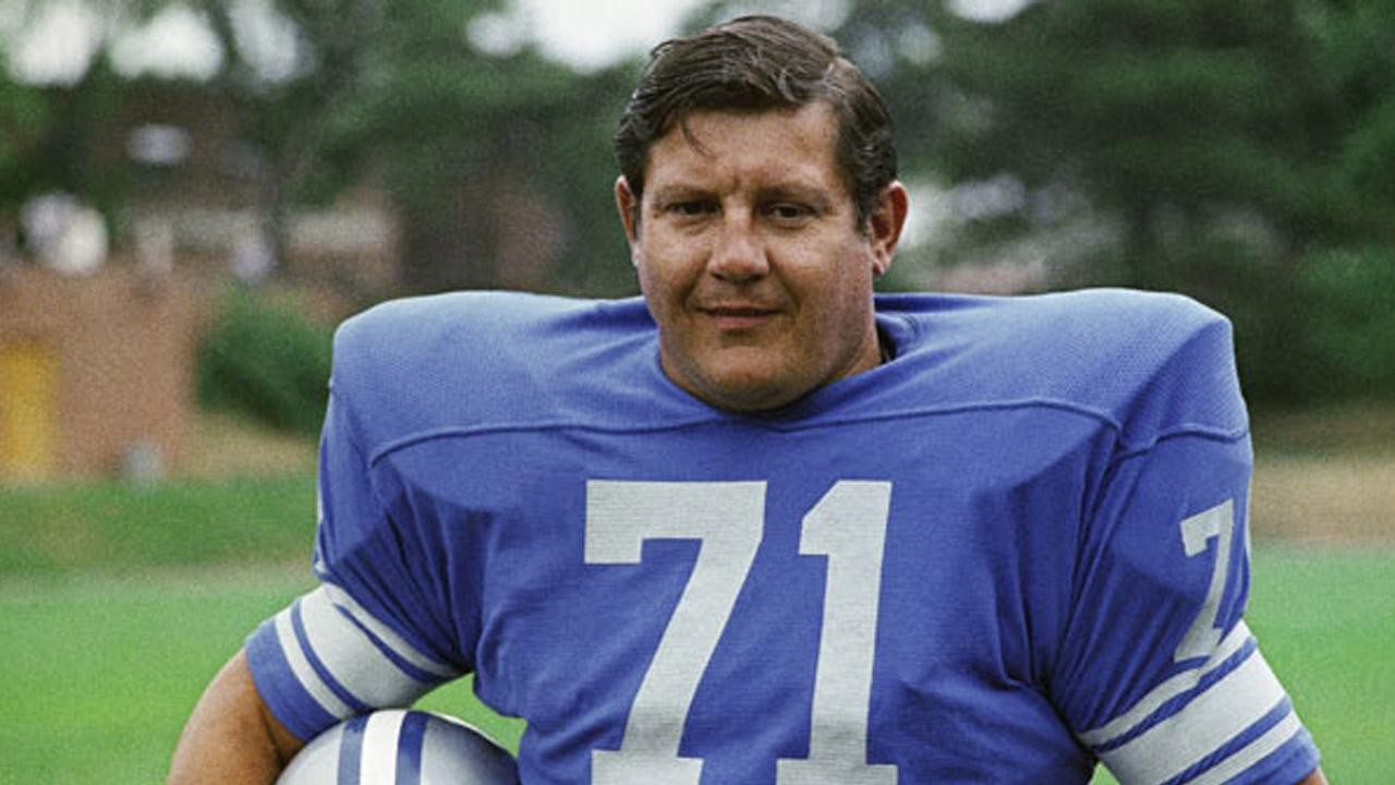 This file photo shows Detroit Lions Alex Karras.