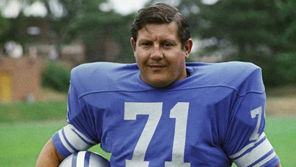 This file photo shows Detroit Lions' Alex Karras.