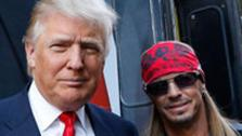 Bret Michaels and Donald Trump appear at an event announcing the cast of the host and real estate moguls NBC show All Star Celebrity Apprentice in New York City on Oct. 12, 2012. - Provided courtesy of NBC Photo / Heidi Gutman