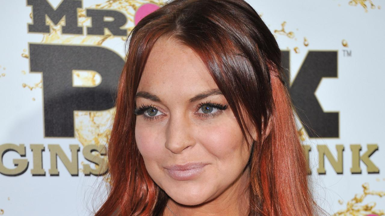 Lindsay Lohan attends the Mr. Pink Ginseng launch party at the Beverly Wilshire hotel on Thursday, Oct. 11, 2012, in Beverly Hills, California.