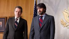 Ben Affleck and Bryan Cranston appear in a still from the 2012 film, Argo.