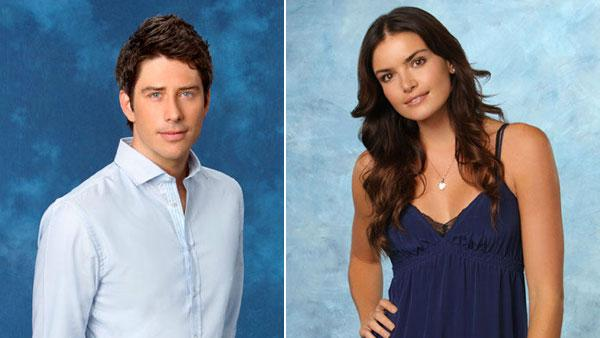 Courtney Robertson appears in a promotional photo for the sixteenth edition of The Bachelor.  / Arie Luyendyk appears in a promotional photo for the eight season of The Bachelorette. - Provided courtesy of ABC Photo / Craig Sjodin