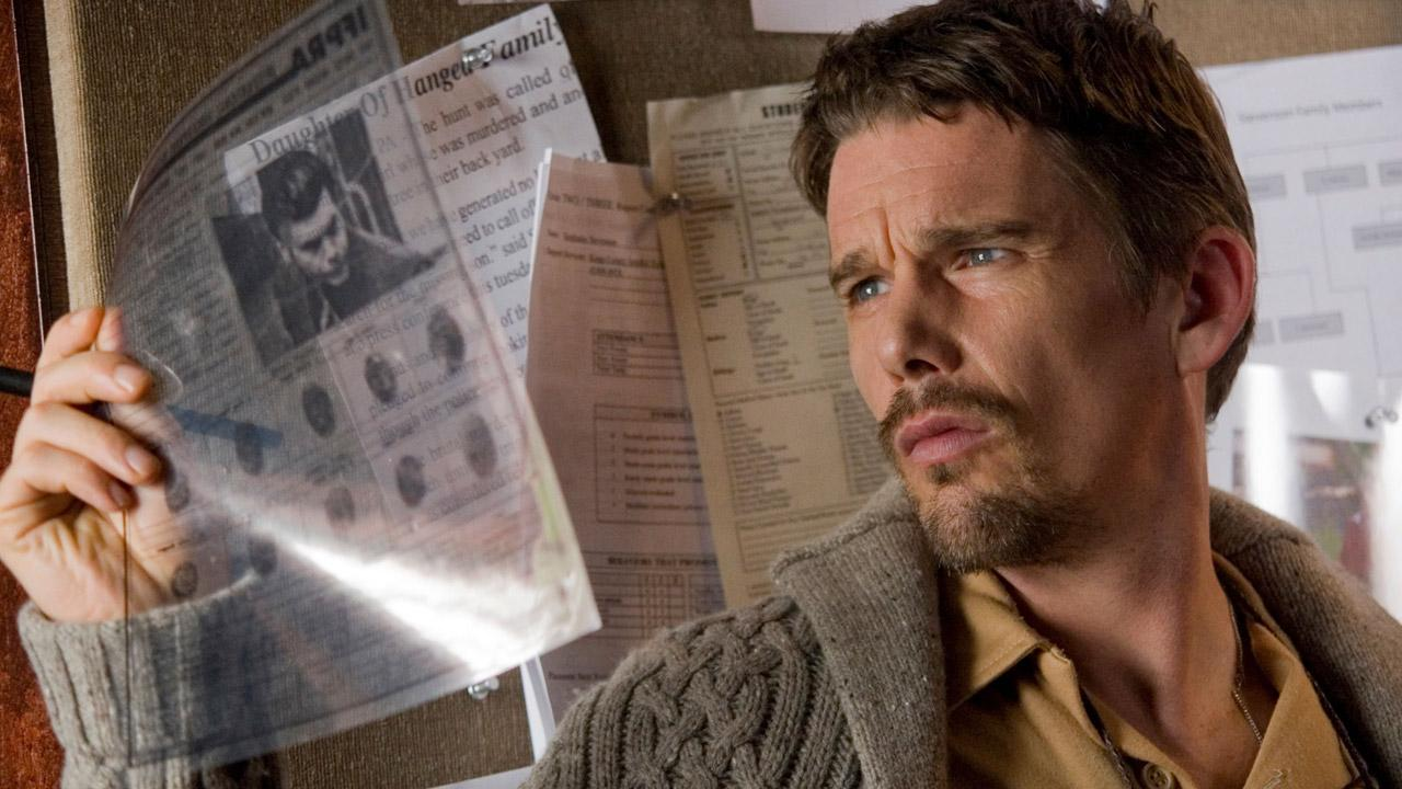 Ethan Hawke appers in a stil from the 2012 film, Sinister.