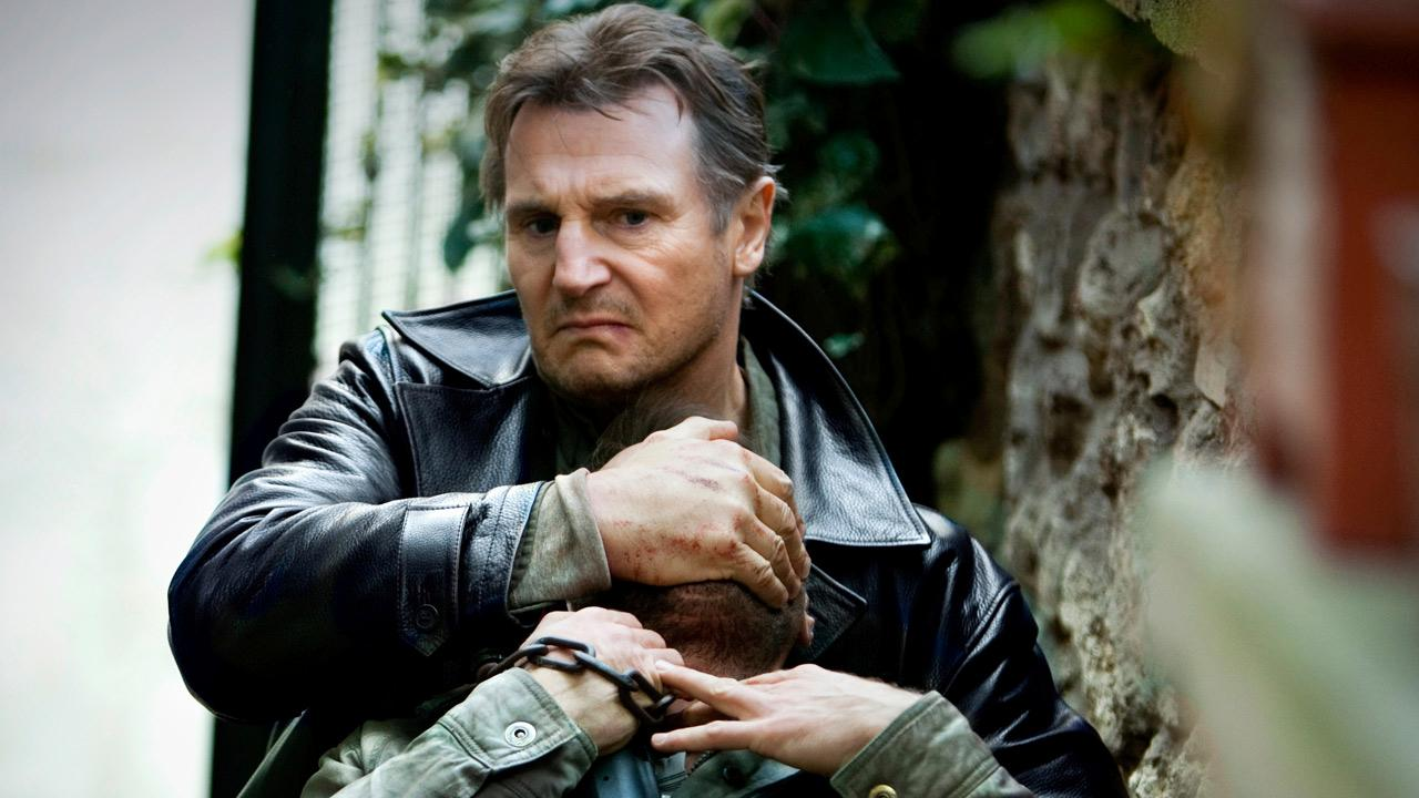 Liam Neeson appears in a still from the 2012 film, Taken 2.