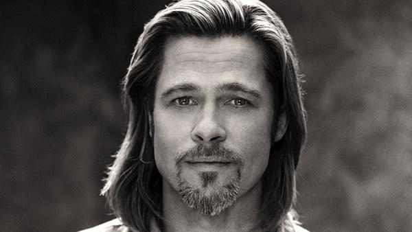 Brad Pitt appears in a behind-the-scenes photo for Chanel No. 5s 2012 ad campaign. - Provided courtesy of Sam Taylor-Wood / Chanel