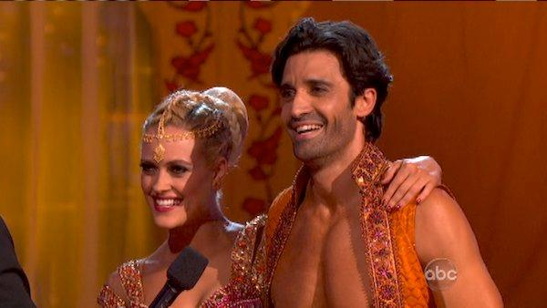 Gilles Marini and Peta Murgatroyd appear in a still from Dancing With The Stars: All-Stars on October 15, 2012. - Provided courtesy of ABC