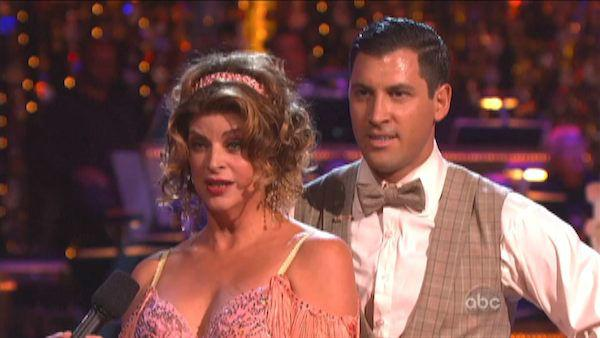 Kirstie Alley and Maksim Chmerkovskiy appear in a still from 'Dancing With The Stars: All-Stars' on October 15, 2012.
