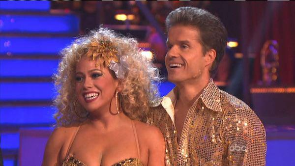 Sabrina Bryan and Louis Van Amstel appear in a still from 'Dancing With The Stars: All-Stars' on October 15, 2012.