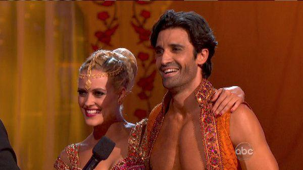 Gilles Marini and Peta Murgatroyd appear in a still from 'Dancing With The Stars: All-Stars' on October 15, 2012.