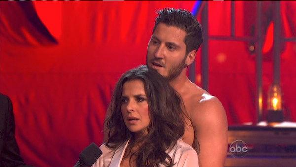 Kelly Monaco and Valentin Chmerkovskiy appear in a still from 'Dancing With The Stars: All-Stars' on October 15, 2012.