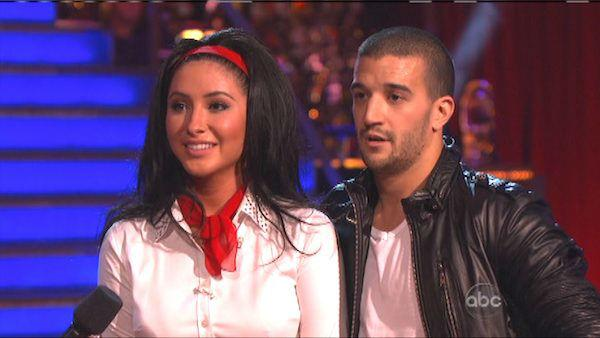 Bristol Palin and Mark Ballas appear in a still from 'Dancing With The Stars: All-Stars' on October 15, 2012.