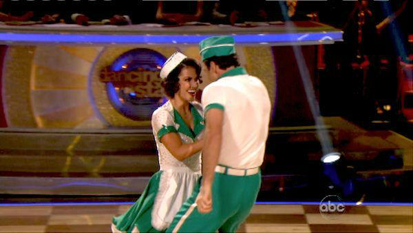 Melissa Rycroft and Tony Dovolani appear in a still from 'Dancing With The Stars: All-Stars' on October 15, 2012.