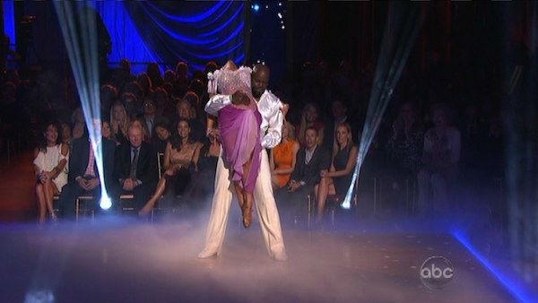 Emmitt Smith and Cheryl Burke appear in a still from 'Dancing With The Stars: All-Stars' on October 15, 2012.