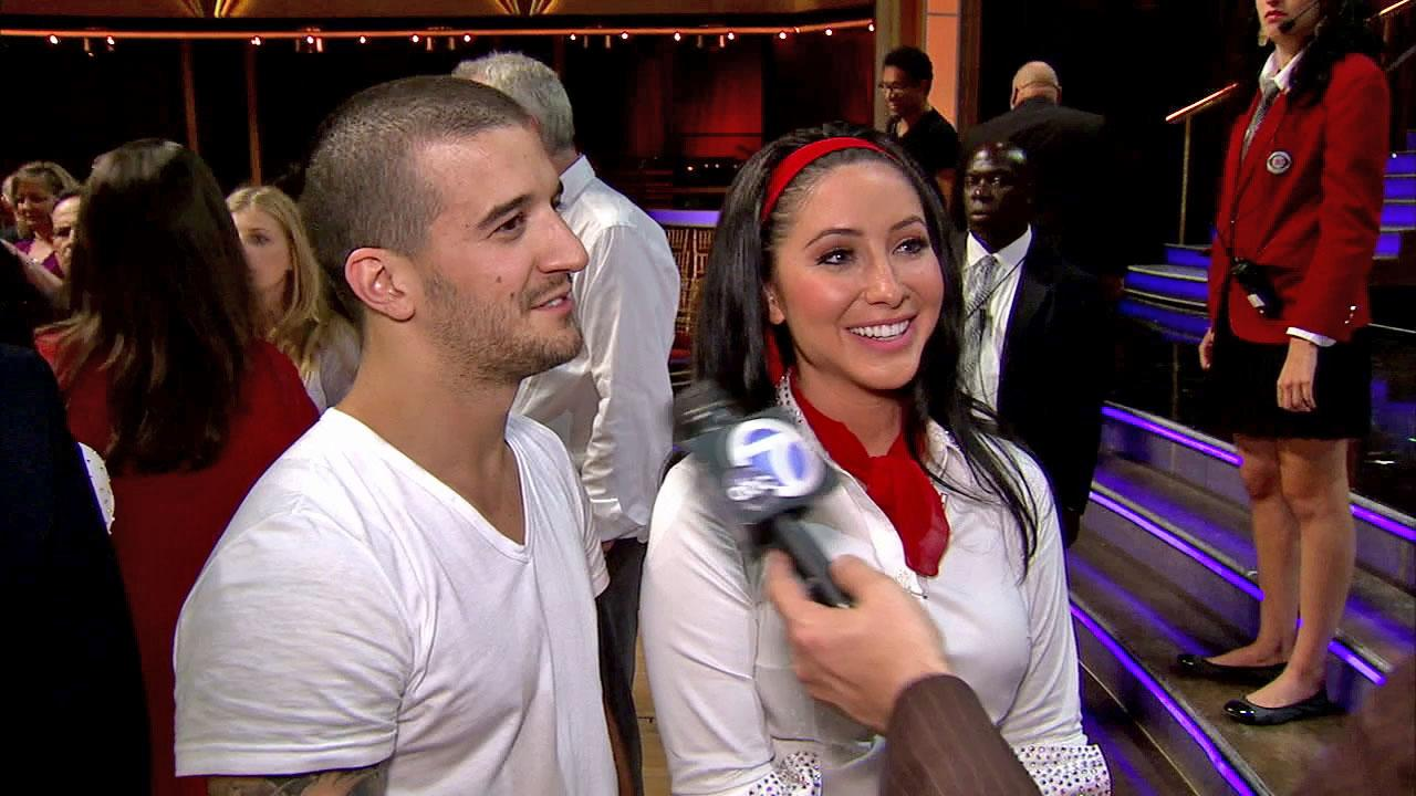 Bristol Palin and Mark Ballas talk to OTRC.com after the October 8, 2012 episode of Dancing With The Stars.