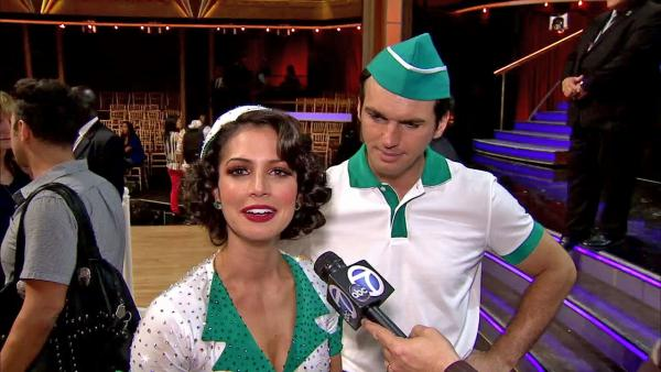 Melissa Rycroft and Tony Dovolani talk to OTRC.com after the October 15, 2012 episode of Dancing With The Stars. - Provided courtesy of OTRC