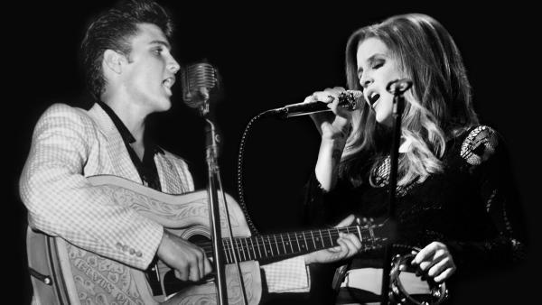 Lisa Marie Presley and Elvis appear in a publicity photo promoting her 2012 duet with her father, I Love You Because. - Provided courtesy of Lisa Marie Presley